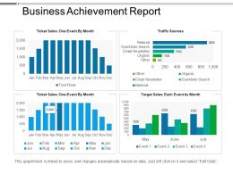 Business Achievement Report Powerpoint Templates