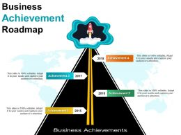 Business Achievement Roadmap Powerpoint Graphics
