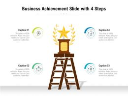 Business Achievement Slide With 4 Steps