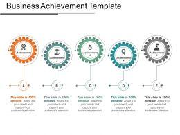 50930271 Style Variety 1 Gears 5 Piece Powerpoint Presentation Diagram Infographic Slide