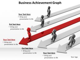 business achievement with arrows and men standing graph powerpoint diagram templates graphics 712