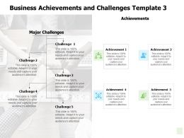 Business Achievements And Challenges Communication Ppt Powerpoint Presentation Deck