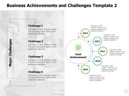 Business Achievements And Challenges Goal Achievement Ppt Powerpoint Presentation Outline