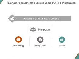 Business Achievements And Mission Sample Of Ppt Presentation