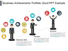 Business Achievements Portfolio Good Ppt Example