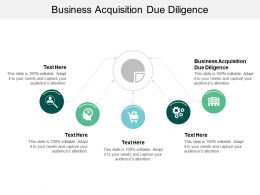 Business Acquisition Due Diligence Ppt Powerpoint Presentation Visual Aids Outline Cpb