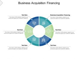 Business Acquisition Financing Ppt Powerpoint Presentation Professional Slides Cpb