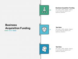 Business Acquisition Funding Ppt Powerpoint Presentation Pictures Images Cpb