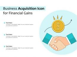 Business Acquisition Icon For Financial Gains
