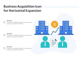 Business Acquisition Icon For Horizontal Expansion