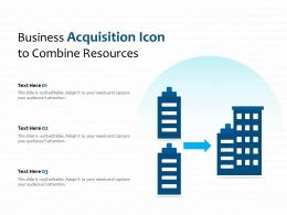 Business Acquisition Icon To Combine Resources