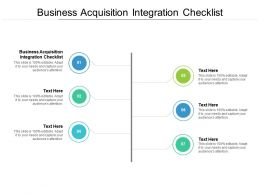Business Acquisition Integration Checklist Ppt Powerpoint Presentation File Cpb