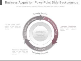 Business Acquisition Powerpoint Slide Backgrounds
