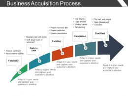 Business Acquisition Process Presentation Visual Aids
