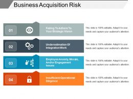 Business Acquisition Risk Sample Of Ppt Presentation