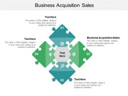 Business Acquisition Sales Ppt Powerpoint Presentation File Deck Cpb
