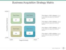 Business Acquisition Strategy Matrix Powerpoint Images