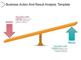 Business Action And Result Analysis Template Powerpoint Layout