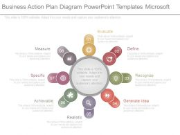 Business Action Plan Diagram Powerpoint Templates Microsoft
