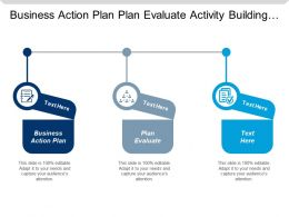 Business Action Plan Plan Evaluate Activity Building Team Cpb