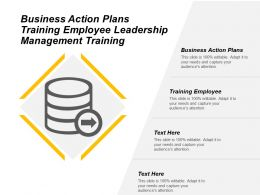 Business Action Plans Training Employee Leadership Management Training