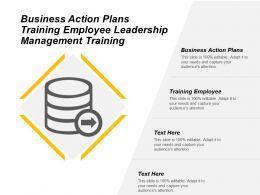 Business Action Plans Training Employee Leadership Management Training