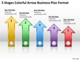 Business Activity Diagram 5 Stages Colorful Arrow Plan Format Powerpoint Slides