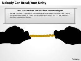 Business Activity Diagram Nobody Can Break Your Unity Powerpoint Slides 0515