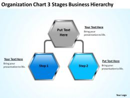 Business Activity Diagram Organization Chart 3 Stages Hierarchy Powerpoint Slides 0515