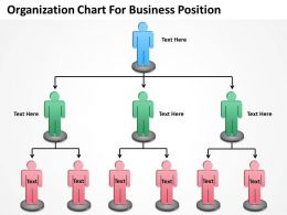 Business Activity Diagram Organization Chart For Position Powerpoint Slides 0515