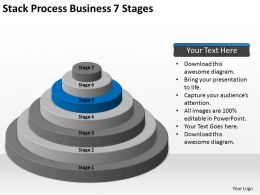 Business Activity Diagram Stack Process 7 Stages Powerpoint Slides 0522
