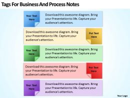 Business Activity Diagram Tags For And Process Notes Powerpoint Slides 0522