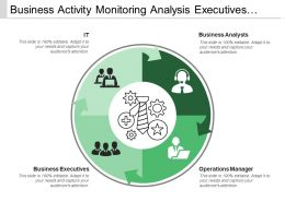 Business Activity Monitoring Analysis Executives Managers
