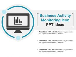 Business Activity Monitoring Icon Ppt Ideas