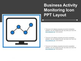 Business Activity Monitoring Icon Ppt Layout