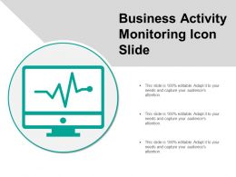 Business Activity Monitoring Icon Slide