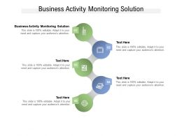 Business Activity Monitoring Solution Ppt Powerpoint Presentation Infographics Cpb