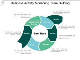 Business Activity Monitoring Team Building Ppt Powerpoint Presentation Slides Portfolio Cpb