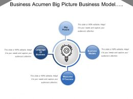 Business Acumen Big Picture Business Model Measuring Success