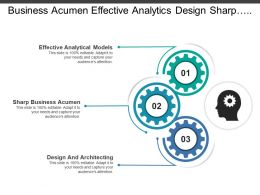 Business Acumen Effective Analytics Design Sharp Architecting