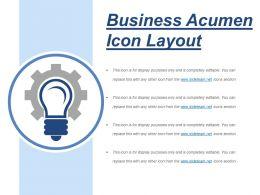 Business Acumen Icon Layout