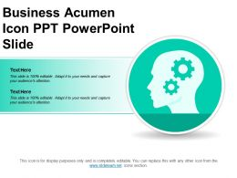Business Acumen Icon Ppt Powerpoint Slide