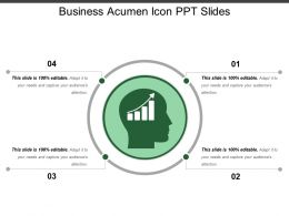 Business Acumen Icon Ppt Slides