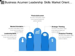 Business Acumen Leadership Skills Market Orientation Strategic Thinking