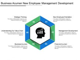 Business Acumen New Employee Management Development