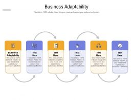 Business Adaptability Ppt Powerpoint Presentation Icon Graphics Design Cpb