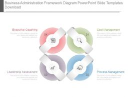 Business Administration Framework Diagram Powerpoint Slide Templates Download