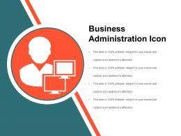 Business Administration Icon Ppt Summary
