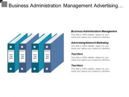 Business Administration Management Advertising Network Marketing Competitive Analysis Cpb