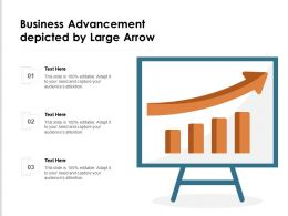 Business Advancement Depicted By Large Arrow